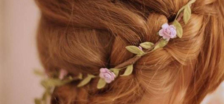 coiffure couronne de fleur